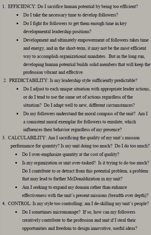 McD Questions