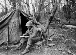 Soldier Writing Letter Home